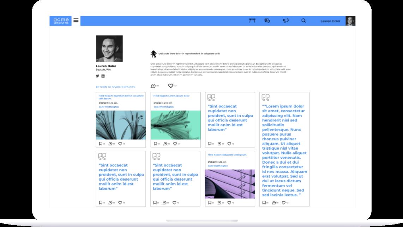 Screenshot of Intrepid platform