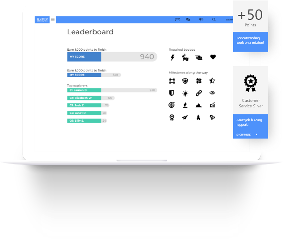 Screenshot of Intrepid scoring in platform