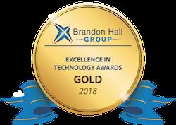 2018 Brandon Hall Tech Gold logo