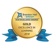 Brandon Hall Group - HCM Excellence Awards - Gold Excellence in Learning 2018