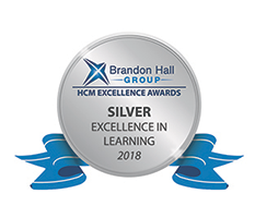Brandon Hall Group - HCM Excellence Awards - Silver Excellence in Learning 2018
