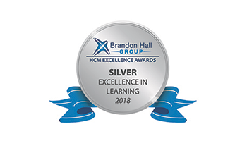 2018 Brandon Hall Excellence in learning Silver award