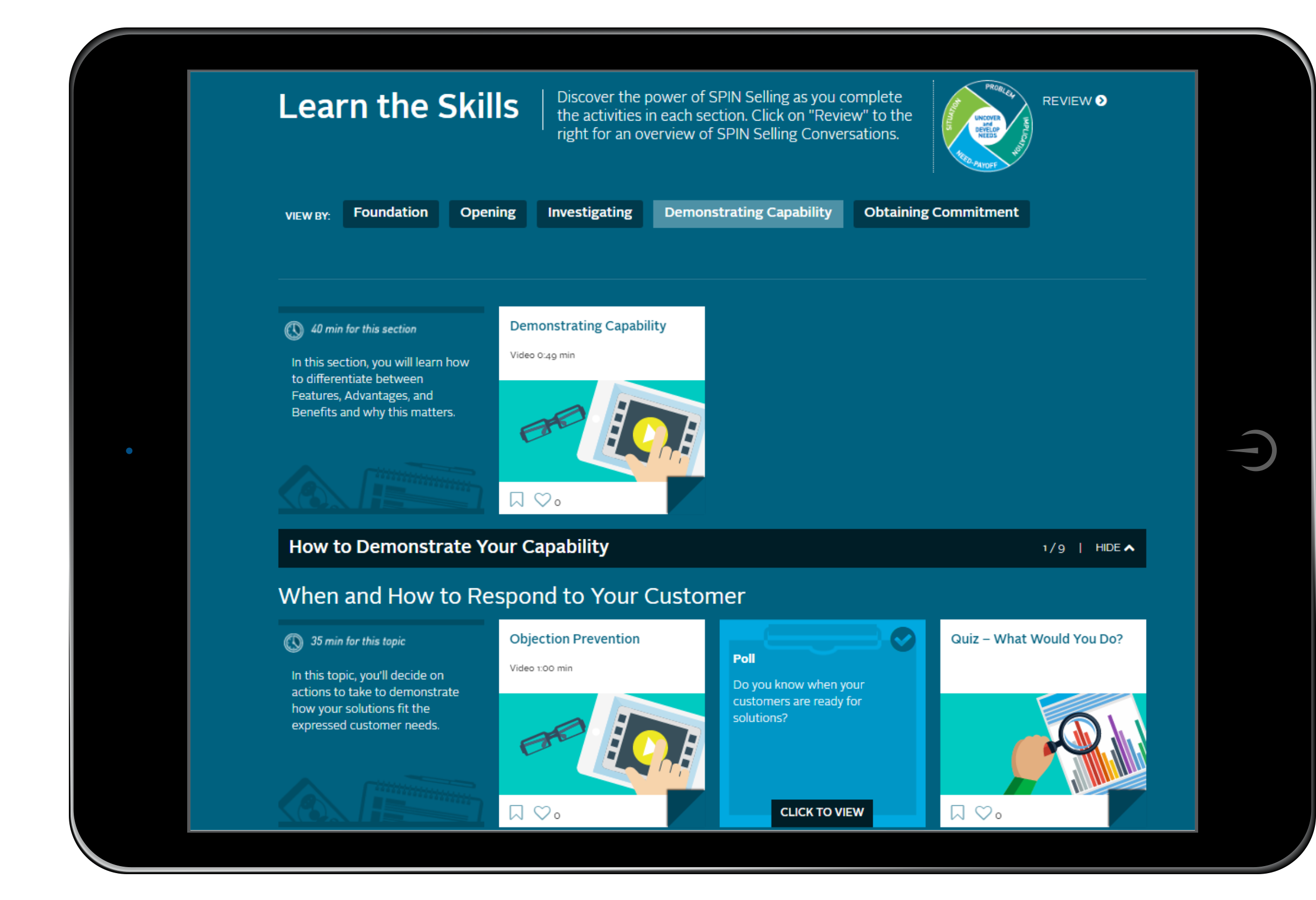 Just-In-Time Content Library for Self-Directed Learning